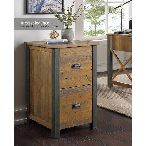 Urban Elegance - Reclaimed Two Drawer Filing Cabinet