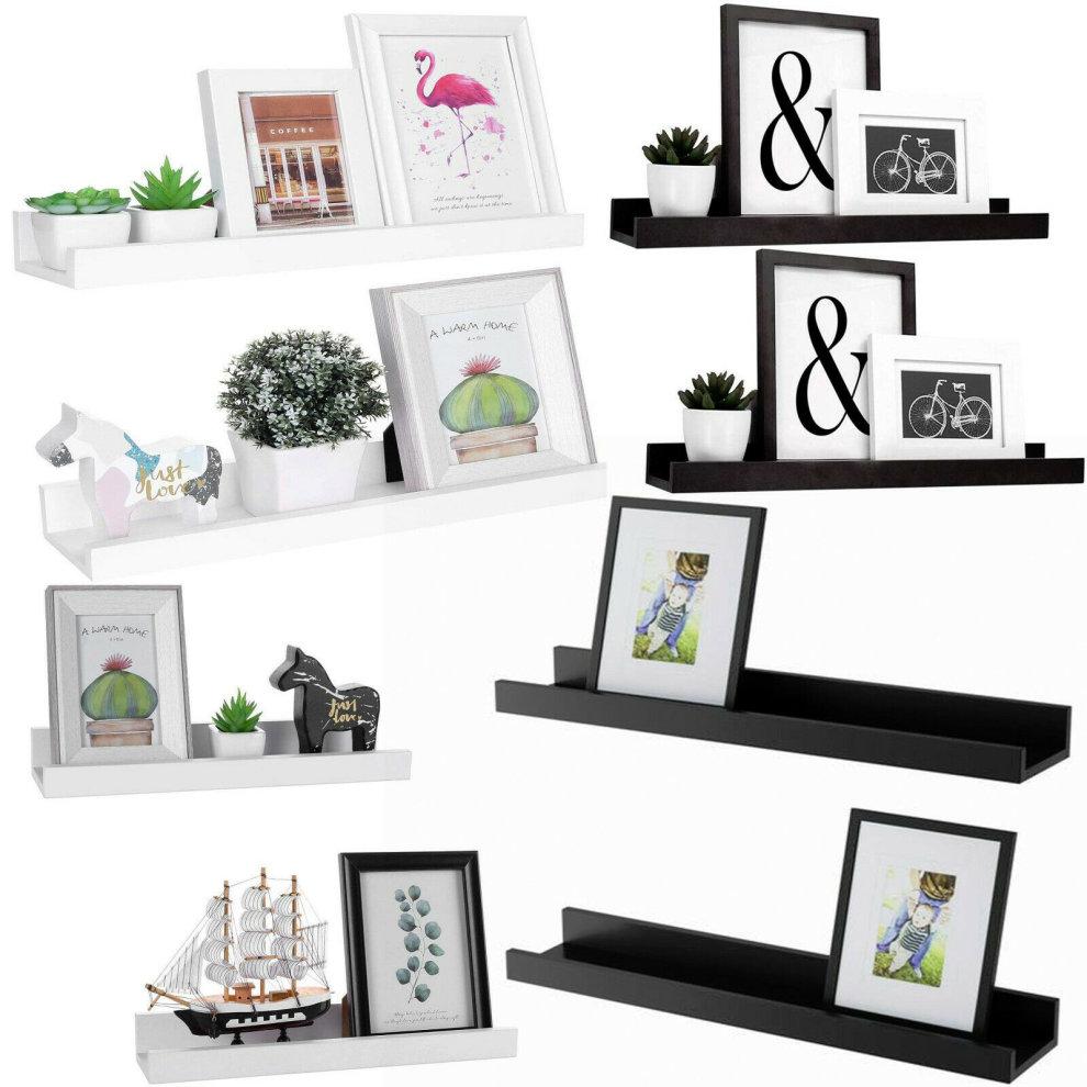 Set of 2 Floating Wall Shelves