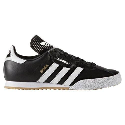 (Black, 10 UK) Adidas Originals Samba Super Black Leather Mens Trainer Shoes