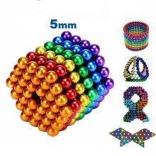 512pcs 5mm 3mm 3D Puzzle Magnets Magic Balls Beads Ball Sphere Toy
