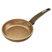 Tower Cerastone Forged Frying Pan with Easy Clean Non-Stick Ceramic Coating, Stainless Steel, Gold, 20 cm