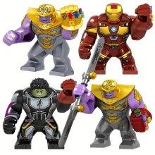 Iron Man With Gauntlet Hulk Thanos Spider-Man Figures Blocks Construction  Bricks Toys