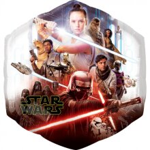 foil balloon Star Wars Skywalker 58 cm orange/blue