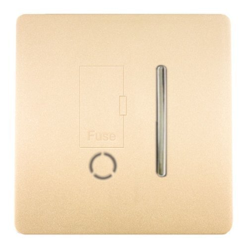 Trendi Switch Artistic Modern Glossy Fused Spur Switch Champagne Gold