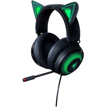 Razer Kraken Kitty Quartz Edition - Cat Ears USB Gaming Headset, Chroma Lighting, Wired for Cross-Platform Gaming for PC, PS4, Xbox One & Switch, 50mm