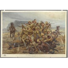 All that was left of them, 17th Lancers near Modderfontein (Poster Print)
