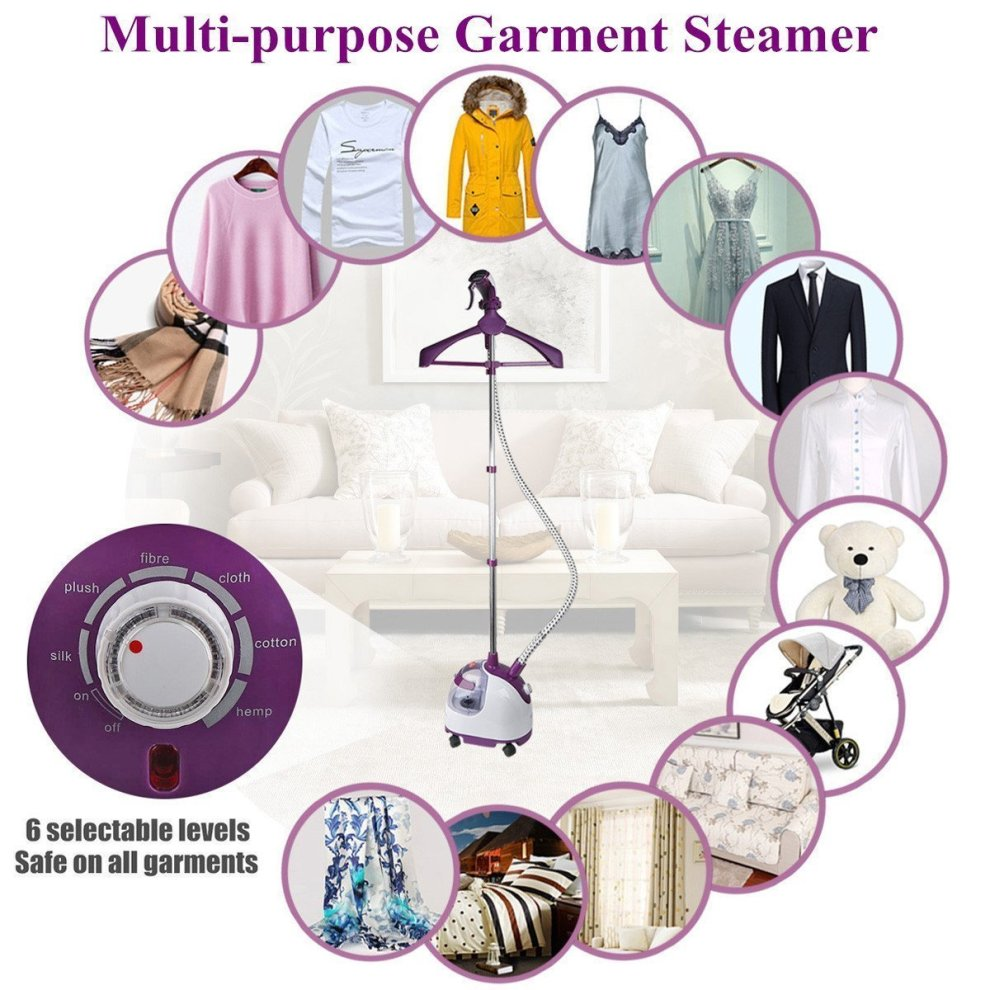Blusmart Garment Steamer Vertical Clothes Steamers Household 6 Steaming Levels