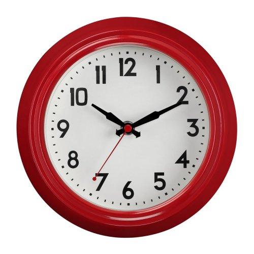 Vintage Style Metal Wall Clock 2200859, Red