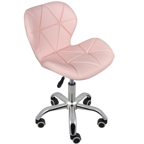 (Pink) Charles Jacobs Cushioned Swivel Office Chair