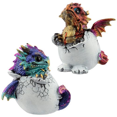 Hatching Egg Elements Dragon Figurine