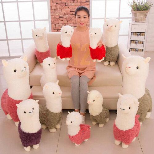 Alpaca Plush Toy Small Sheep Stuffed Animal Doll