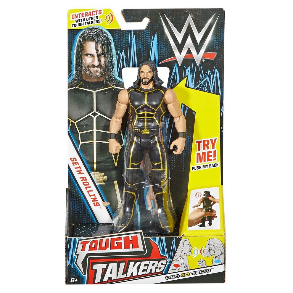 6 6 Mattel DXG75 WWE Tough Talkers Seth Rollins Figure