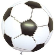 24 Inch Black/white Inflatable Football In P/bag - Toy New Black Large Balls -  inflatable 24 inch toy new football black large balls 61cm pms beach