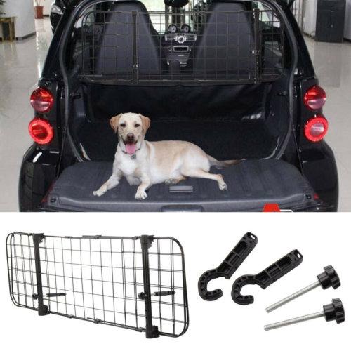 Car Pet Dogs Barrier GuardAdjustable Safety Travel Dog Headrest Mesh