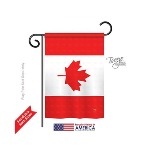 Breeze Decor 58277 Canada Country 2-Sided Impression Garden Flag - 13 x 18.5 in.