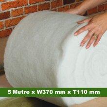 High Loft Thermal  Insulation Roll (5 Meter x W370 mm x T110mm)