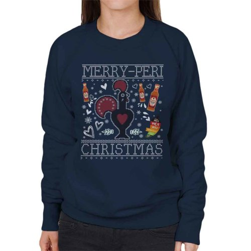 Merry Peri Christmas Nandos Christmas Knit Pattern Women's Sweatshirt