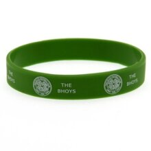 Footie Gifts Official Glasgow Celtic FC Green Rubber Wristband