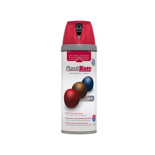 Plasti-kote 22106 400ml Premium Spray Paint Satin - Real Red