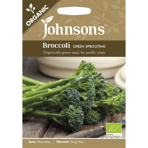Johnsons Seeds - Pictorial Pack - Vegetable - Broccoli Green Sprouting (ORGANIC) - 150 Seeds
