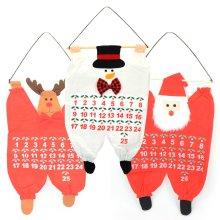 Christmas Santa Snowman Reindeer Hanging Fabric Advent Calendar Kids Decoration