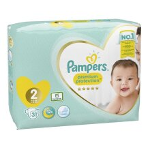 Pampers Premium Protection New Baby Size 2 (4-8 kg) - 31 Nappies
