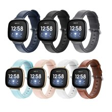 For Fitbit Versa 3 / Sense Genuine Leather Band Replacement Wristband Strap