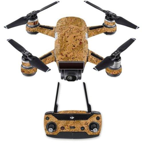 MightySkins DJSPCMB-Cork Skin Decal Wrap for DJI Spark Mini Drone Combo Sticker - Cork