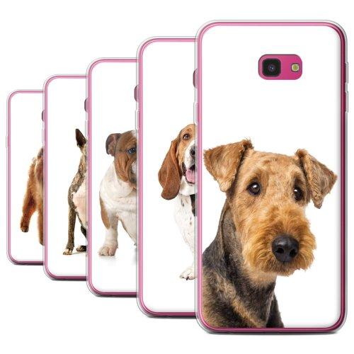 Dog Breeds Samsung Galaxy J4 Plus 2018 Phone Case Transparent Clear Ultra Soft Flexi Silicone Gel/TPU Bumper Cover for Samsung Galaxy J4 Plus 2018