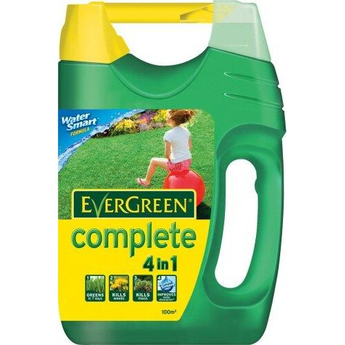 Scotts Miracle-Gro EverGreen Complete 100 sq m Lawn Food, Weed and Moss Killer Spreader