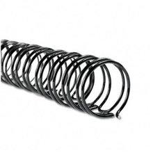 "WireBind Spines- 3/8"" Diameter- 75 Sheet Capacity- Black- 100/Box"