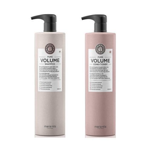 (1Ltr) Maria Nila Pure Volume Shampoo Conditioner Set