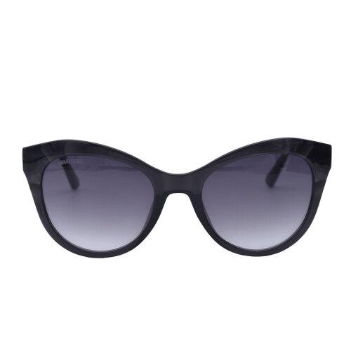 SWAROVKSI Dark Grey Cat-Eye Sunglasses with Grey Lenses