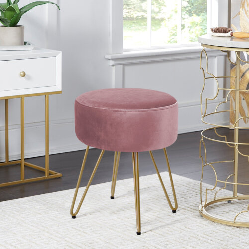 (Pink) Living and Home Footstool