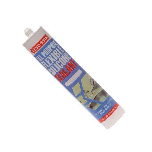 Evo-Stik 30811724 112896 All Purpose Flex Silicone Sealant Clear C20