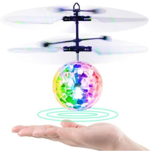 Flying Ball Kids Toys Remote Control Helicopter Mini Drone Magic RC Flying Toys with Shinning LED Lights Fun Gadgets for Boys Girls Kids Teenagers Adu