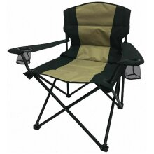 Camping Folding Chair 300 Lbs with Armrest and Pocket Heavy Duty Chair