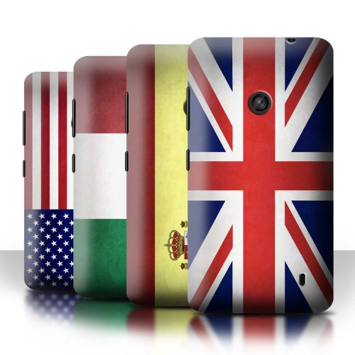 Flags Nokia Lumia 520 Phone Case Transparent Clear Ultra Slim Thin Hard Back Cover for Nokia Lumia 520