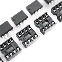 10 x 8 Pins 2.54mm Dip Ic Sockets Solder Type Adaptors