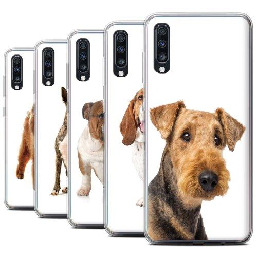 Dog Breeds Samsung Galaxy A70 2019 Phone Case Transparent Clear Ultra Soft Flexi Silicone Gel/TPU Bumper Cover for Samsung Galaxy A70 2019
