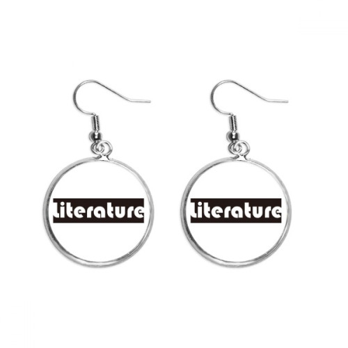 Course And Major Literature Black Ear Dangle Silver Drop Earring Jewelry Woman