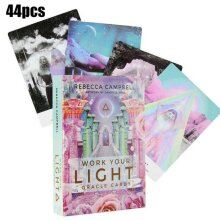 44Pcs Vintage Work Your Light Oracle Cards Tarot Deck Foretell Fantasy Cards Set