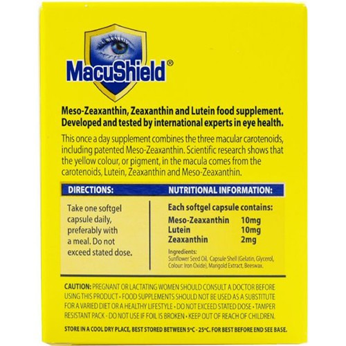 Macushield Macushield Capsules 30's