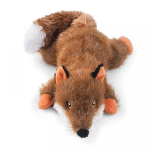 ZOON Plush Fun Fox tug of war Dog Toy with Squeaker