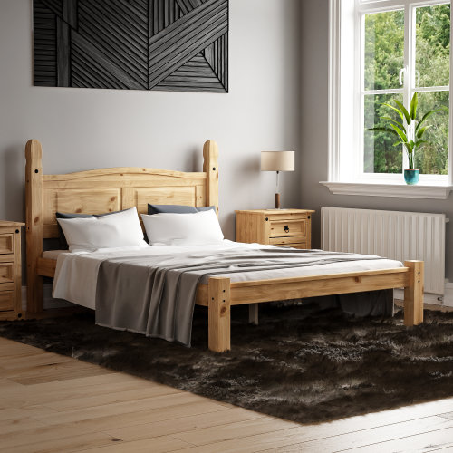 (Double) Corona Mexican Solid Pine Bed Frame Low Foot End