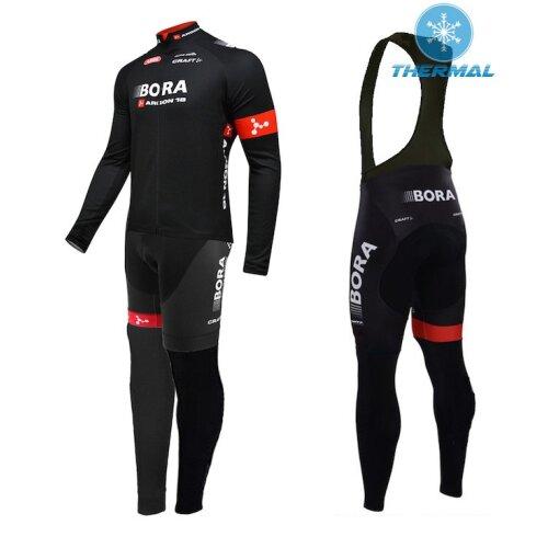 2015 Bora Argon 18 Team Thermal Long Sleeve Cycling Jersey And Bib Pants