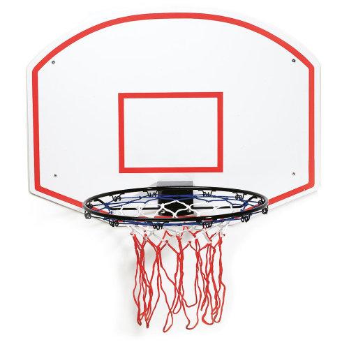 Slam Dunk Outdoor Fun Play Plain Basketball Ring + Backboard Set