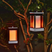 LED Solar Lamp Flickering 3 Modes Candle Waterproof Flame Effect Lights
