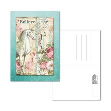 Stamperia Postcard 10x15cm Wonderland Unicorn