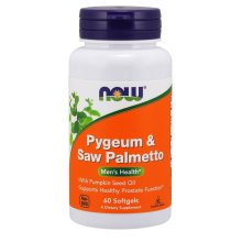 NOW Foods  Pygeum & Saw Palmetto, 60 softgels